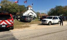 Kārtējā apšaude ASV: Teksasā baznīcā nogalināti 27 cilvēki