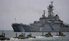 Pie Latvijas robežas 'viesojas' Krievijas zemūdeņu atbalsta kuģis