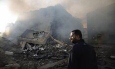 Izraēlas uzlidojumos Gazas joslā nogalināto skaits sasniedz 109