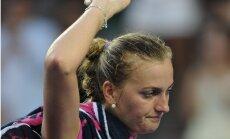 Kvitova neizglābjas no zaudējuma Francijas atklātā čempionāta trešajā kārtā