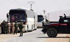 Sīrijas nemiernieki pamet pilsētu netālu no Damaskas