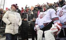 Участники рижского матча КХЛ на открытом воздухе: классный день, а игра— бомба!