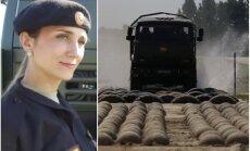 Video: Krievijas armijas sievietes demonstrē kravas auto vadīšanas prasmes