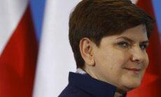 Polijas premjere aicina opozīciju uz vienotību pret ārvalstu apmelojumiem