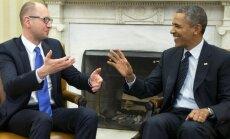 Obama pauž atbalstu Ukrainas premjerministram