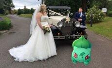 Foto: Pokemonu medības gandrīz sagandē kāzas
