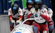 Latvijas bobsleja četrinieku ekipāžām dubultpanākums EK posmā