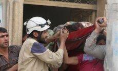 Kaujās Alepo nogalināti desmitiem cilvēku, vēsta medijs