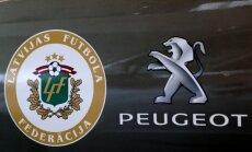 Foto: 'Peugeot' kļūst par Latvijas futbola auto