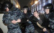 Maskavā aizturēti vairāk nekā 50 cilvēki, tostarp vairāki nekā 10 opozicionāri
