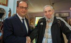 Foto: Fransuā Olands Kubā saticis brāļus Kastro