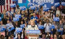 ASV prezidenta amata cīņas: Klintone Dienvidkarolīnā pārliecinoši sakauj Sandersu