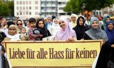 Vācijā pērn notikuši vismaz 950 uzbrukumi musulmaņiem