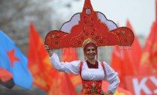 Foto: 1. maija svinētāji Krievijā