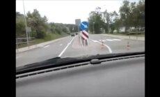 ВИДЕО: Веселая дорога в Балви - ни знаков, ни указателей