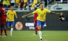 Kutinju 'hettriks' nodrošina Brazīlijai graujošu uzvaru pār Haiti 'Copa America'