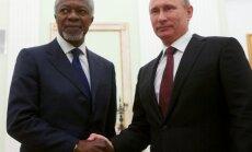 Putins sola atbalstīt Annana centienus nodrošināt miera iestāšanos Sīrijā