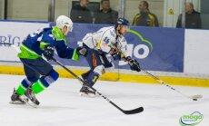 'Kurbada' hokejisti viesos uzvar 'Mogo' un saglabā intrigu Latvijas čempionāta finālsērijā