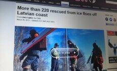 Vērienīgā makšķernieku glābšanas operācija izpelnījusies arī ārvalstu mediju uzmanību