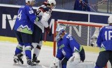 Video: Slovēņiem neizdodas 'aizķerties' pasaules čempionāta elitē