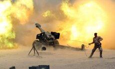 Iespaidīgi kadri: kā irākieši liek liesmot padomju S-60 un D-20 stobriem