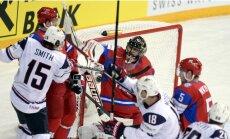 Krievija ar kaunpilnu zaudējumu noliek pasaules čempionu pilnvaras