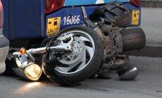 Motociklisti arvien biežāk iekļūst ceļu satiksmes negadījumos