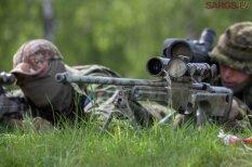 В Адажи проходят совместные учения снайперов Латвии, Литвы и Эстонии