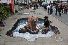 Krievu mākslinieks atklāj fantāziju pasauli zem ielām