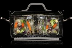 Клевые фотографии еды, разрезанной пополам в процессе готовки