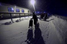 Ieskats bēgļu nometnes dzīvē Zviedrijas ziemeļos