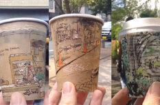 Что для одного мусор, для другого - холст: художник рисует на кофейных кружках