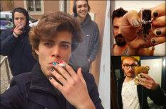 """13 фото мужского маникюра — тренда, рвущего """"инстаграмы"""", шаблоны и иные части тела"""