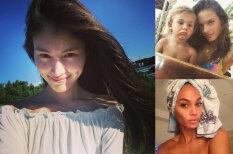 """Девочки-припевочки. Как 30 моделей Victoria's Secret выглядят без """"боевого"""" макияжа"""
