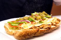 Еда из первого рижского Subway — крупным планом