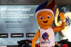 """В Ригу прилетел талисман """"Евробаскета-2015"""" и начал набор помощников (+анкета!)"""