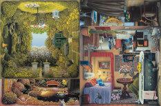 Иллюзии в квадрате: польский художник умещает четыре разные картинки в одной