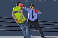 Ironisks skatījums, kā dažādu valstu policija 'dara savu darbu'