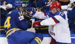 Pasaules hokeja čempionātā sākas ceturtdaļfināla spēles