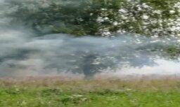 Video: Pie Rumbulas uguns plosa sauso zāli