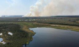 Пожар на болоте в Раматской волости ликвидирован