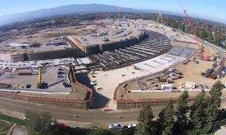 ВИДЕО: Стройка нового офиса Apple на 13 тыс. человек потрясает своими размерами