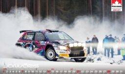 Klajā nācis jaunais kalendārs 'Rallijs Latvijā 2018'