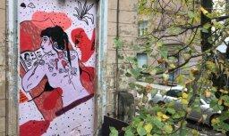 Foto: Kaņepes kultūras centru turpmāk daiļos deviņi jauni ielu mākslas darbi