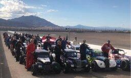 Latviešu sportistiem izcils sniegums 'Legend Cars World Finals' Lasvegasā
