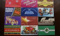 Saldā vēsture šokolādes iepakojumos