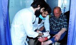 Damaskā raķešu šāviņi nogalina 35 cilvēkus