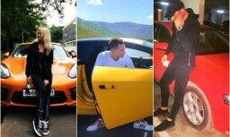 Foto: Albāņu bagātnieki nekautrīgi dižojas ar smalkiem vāģiem