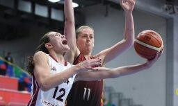 Latvijas basketbolistes nenosargā pārsvaru un dramatiski zaudē Beļģijai