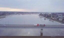 Video: Daugavas ledus iešana Jēkabpilī no putna lidojuma